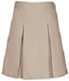 Girls Kick Pleat Skirt - Khaki