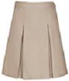 Girls Kick Pleat Skirt - Khaki
