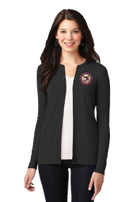 Stretch Button-Front Cardigan