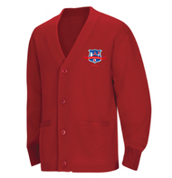 Cardigan Sweater w/ Logo