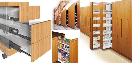 Cabinet Door Slides - Drawer Slides - Kitchen Cabinet Slides ...