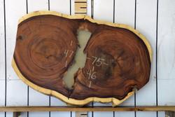 Guanacaste (Parota) Live Edge Wood Slab - H15042 - 75x47x3