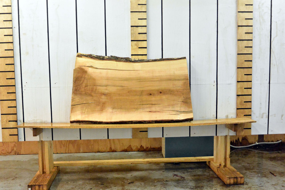 Ambrosia Live Edge Wood Slab - AM004 - 48x27x2 - side 2
