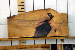 Texas Mesquite Live Edge Wood Slab - TM421 - 62x24x2.25 - side 1
