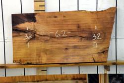 Texas Mesquite Live Edge Wood Slab - TM423 - 62x32x2.125 - side 1