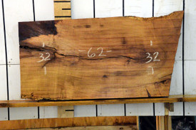 Texas Mesquite Live Edge Wood Slab - TM423 - 62x32x2.125 - side 1