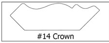 #14 Crown - ¾ x 2 5/8 x 8'