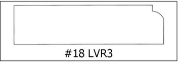#18 LVR3 - ¾ x 3 x 8'