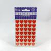 Heart stickers 35 stickers per sheet 2 sheets
