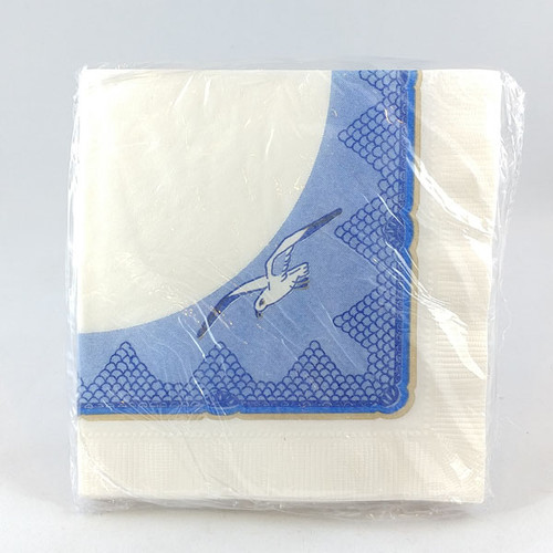Seagull pattern cocktail napkins