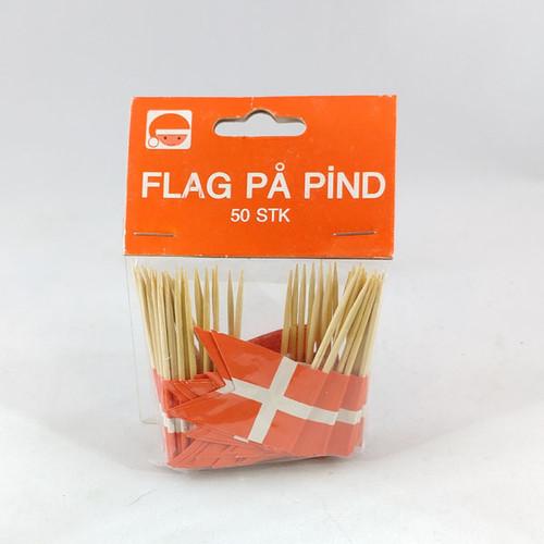 Dannebrog toothpick flags 50 per bag