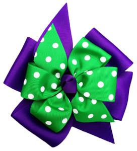 Purple/Kelly Green