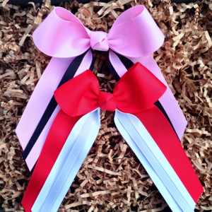 Light Pink/Black and Red/White/Grey
