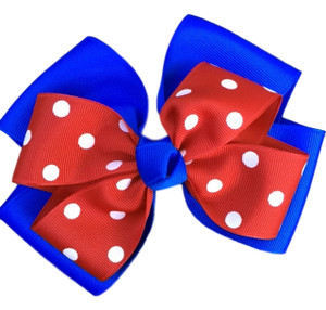 The Siena Marie Polka Dot- Royal & Red