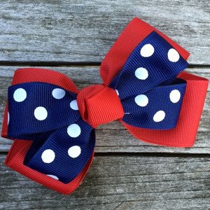 The Siena Marie Junior Polka Dot- Red & Navy