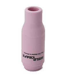 genuine Weldcraft TIG torch replacement alumina nozzle. Suitable for all 17, 18 and 26 series TIG torches.