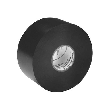 Corrosion Protection Tape, black, 2'' by 100 feet. Designed with special high-tack adhesives formulated to resist corrosion of metal piping systems above and below ground, fittings, and joints on all mil-coated pipe and electrical conduit systems.