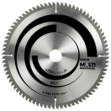Bosch Multi Material Circular Saw Blade 254x3.2x30 80Teeth