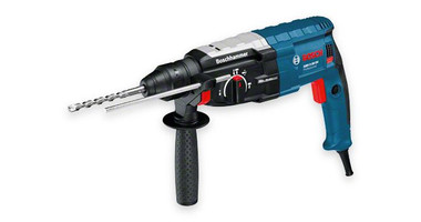 Bosch GBH 2-28DV professional Rotary Hammer with SDS-plus The most important data Rated power input 850 W Max. impact energy 3,2 J Drilling diameter in concrete with hammer drill bits 4 – 28 mm