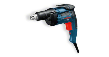 Bosch GSR 6- 45 Professional Drywall screwdriver The most important data Rated power input 	701 W Self-drilling screw diameter 	6,0 mm Max. torque (soft screwdriving application) 	20 Nm