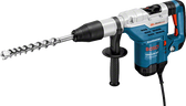 Bosch GBH 5-40 DE promo Rotary Hammer with SDS-max online at GZ Industrial supplies  The most important data  Here you will find the most important technical data for your professional Bosch tool at a glance! Rated power input 1.150 W Max. impact energy 8,8 J Impact rate at rated speed 1.500 – 3.050 bpm Rated speed 170 – 340 rpm Weight 6,8 kg Length 485 mm Height 260 mm Bit holder SDS-max drilling range  Drilling diameter in concrete with hammer drill bits 12 – 40 mm Optimum range of applications in concrete with hammer drill bits 18 – 32 mm Drilling diameter in concrete with breakthrough drill bits 45 – 55 mm Drilling diameter in concrete with core cutters 40 – 90 mm Noise/vibration informat