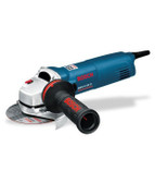 "Bosch GWS 14-125 CI angle grinder 5"" with Starting current limitation Champion motor Constant Electronic Direct cooling KickBack Stop Smooth start Locking system Overload protection Anti-rotation protective guard Restart protection"