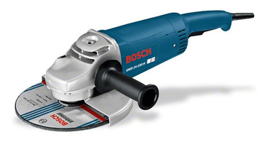 Bosch angle grinder GWS 26-230 JBS Professional Top performance with Vibration Control Powerful 2600 Watt motor with maximum power reserves for highest material removal rate and fastest work progress Vibration reduced by up to 60% thanks to auxiliary handle with Vibration Control, for fatigue-free working
