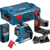 Bosch GLL 3-80p self leveling laser plus laser receiver plus  Wall Mount +LR2 + L-BOXX 1