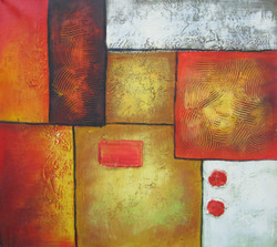 Orange Abstract - 23in X 20in(Framed),FIZCLR25_2320,Abstract, Canvas Painting - Buy painting Online in India