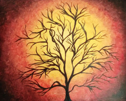 The Tree - Handpainted Art Painting - 20in X 16in
