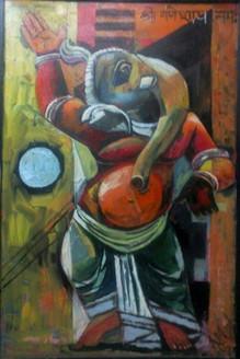 Religious,Ganesha,Bappa,Moaraya,Ganesha With Moon