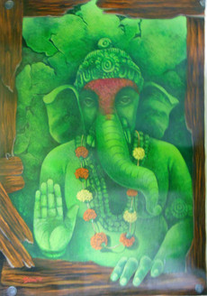 Religious,Ganesha,Moraya,Bappa,Green Ganesha
