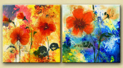 31GRP86 - Handpainted Art Painting - 48in X 24in