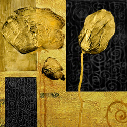 Heavy Texture,Black and Gold comibination