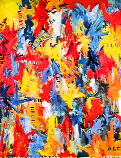 Colors, Abstract art, multicolor painting, texture painting