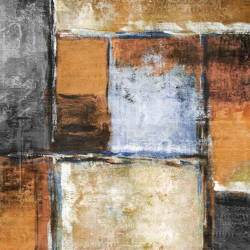 MagicalGreyBrown - 24in X 24in,28ABT246_2424,Yellow, Brown,60X60,Abstract Art Canvas Painting