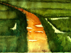 ,Muddy Road,ART_1357_11407,Artist : Sumod Sudhakaran,Water Colors