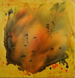 Abstract, Modern Art, Modern, Universe, Yellow, Red, Cosmic Energy, Positive energy,Universe,ART_827_11488,Artist : Kalpana Dave,Oil