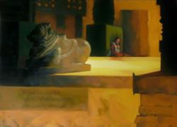 ,Nandi,ART_1391_11570,Artist : Arun Suryawanshi,Oil