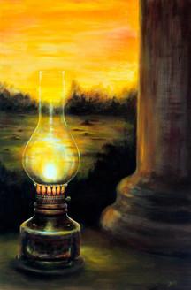 ,The evening lights, W24XH36,ART_464_6163,Artist : Seby Augustine,Acrylic