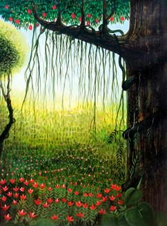 ,Garden View,ART_464_11662,Artist : Seby Augustine,Acrylic