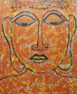 Buddha,Painting 2,ART_1389_11841,Artist : Sonal  Singh,Acrylic