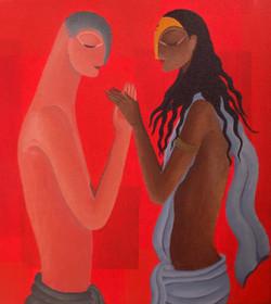ROMMANCE,LOVE,EROTIC,THE FORGIVING,ART_1323_11313,Artist : Debaditya  Sarkar,Acrylic