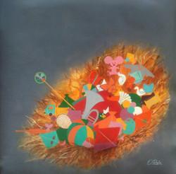 love,peace,joy,happy, indian art,canvas painting, affordable, red,blue,cheap price,beautiful, artist,red,car,rainy whether, pleasant, clouds, peaceful, indian art,nature, children, childhood, canvas painting, happiness, joyful, enjoy, fantasy,,The treasure of childhood iii,ART_805_11885,Artist : Shiv kumar Soni,Acrylic