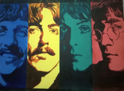 pop art,Beatles,ART_1483_12063,Artist : RAJKUMAR SARKAR,Acrylic
