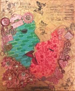 mixed media,Romance,Passion,Love,Texture,Acrylic,,Mystic Perception,ART_65_12076,Artist : Sarandha D L,Mixed Media