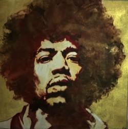 pop art,GOLDEN JIMI,ART_1483_12073,Artist : RAJKUMAR SARKAR,Acrylic