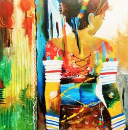 Rajathsani, beauty,beautiful lady,ART_138_11829,Artist : Ila Mishra,Acrylic