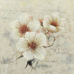 WhiteBloom - 24in X 24in - Painting