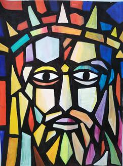 ,Jesus,ART_1243_12324,Artist : Ujwala Chavan,Acrylic